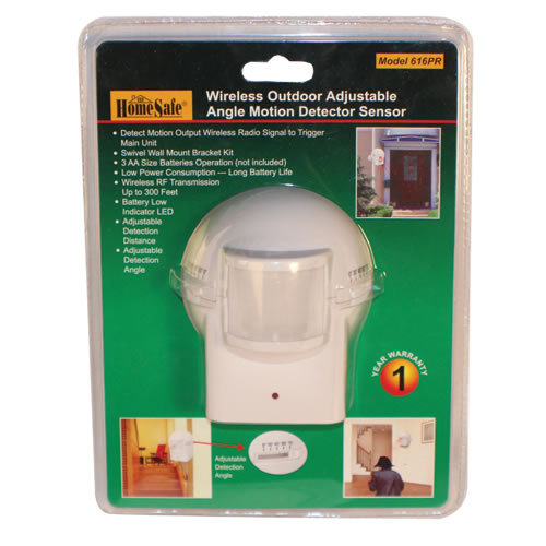 Outdoor Motion Detector - Triggers Alarm to Alert You Upon Motion