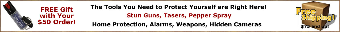 Self Defense Products - Stun Guns, Tasers, Pepper Spray