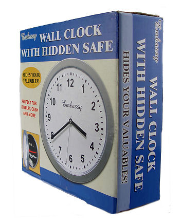 Wall Clock with Hidden Safe