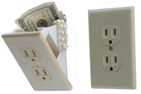 Wall Socket Hidden Safe
