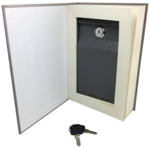 Hidden Book Safe with Lock