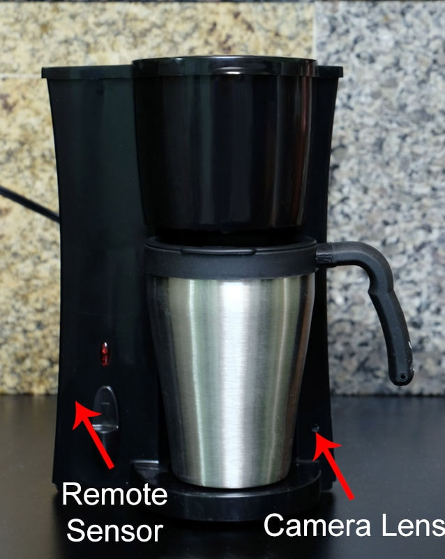 Lens Location on Coffee Pot