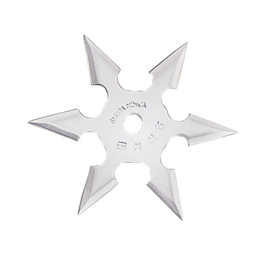 Ninja Throwing Shuriken Steel Ninja Star - 6 P...