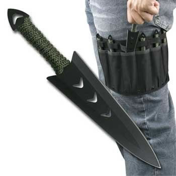 Knife Throwing Set with Leg Sheath