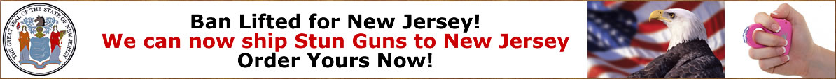 Yes, we can now ship stun guns to New Jersey, Baltimore and Philadelphia!