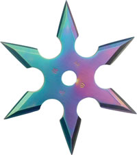 Rainbow Colored Throwing Star