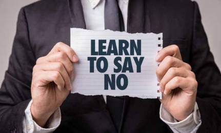 Learn to Say No for Your Personal Security.