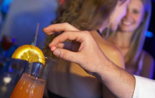 Spiking a Drink with Date Rape Drugs