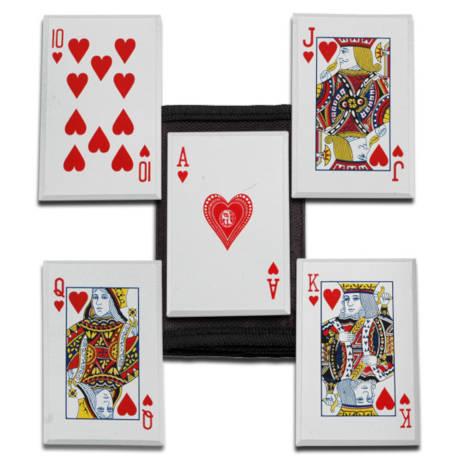 Royal Flush Throwing Cards